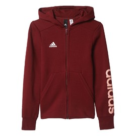 Mikina adidas Performance YG LINEAR FZ HD