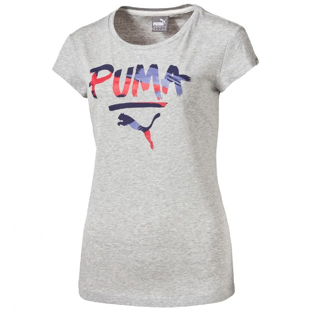 Dámské tričko Puma FUN Top W light gray heather