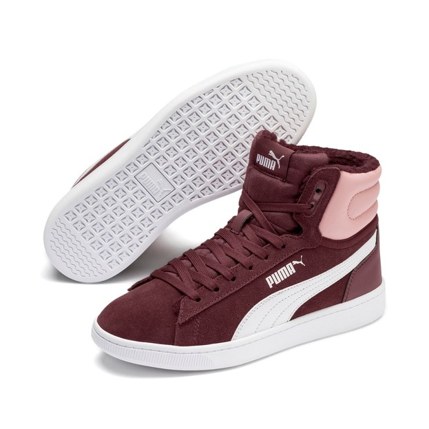 Puma Vikky v2 Mid Fur Jr Vineyard Wine-B