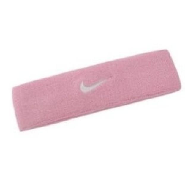 Růžová čelenka Nike SWOOSH HEADBAND  4eab32deab