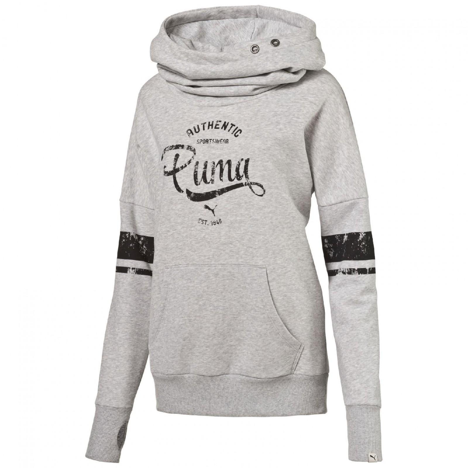 Dámská mikina Puma STYLE ATHL Hoodie FL W light g  5132e86caa