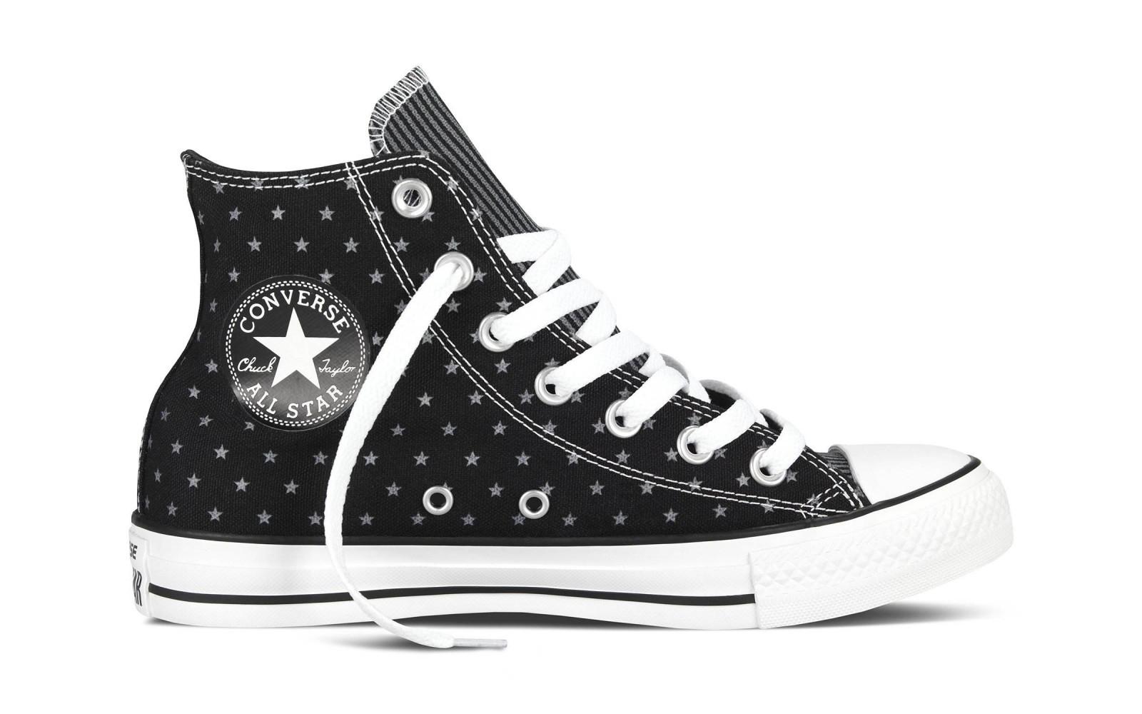 Dámské boty Converse Chuck Taylor All Star černé hvězdy  36ee0700fd