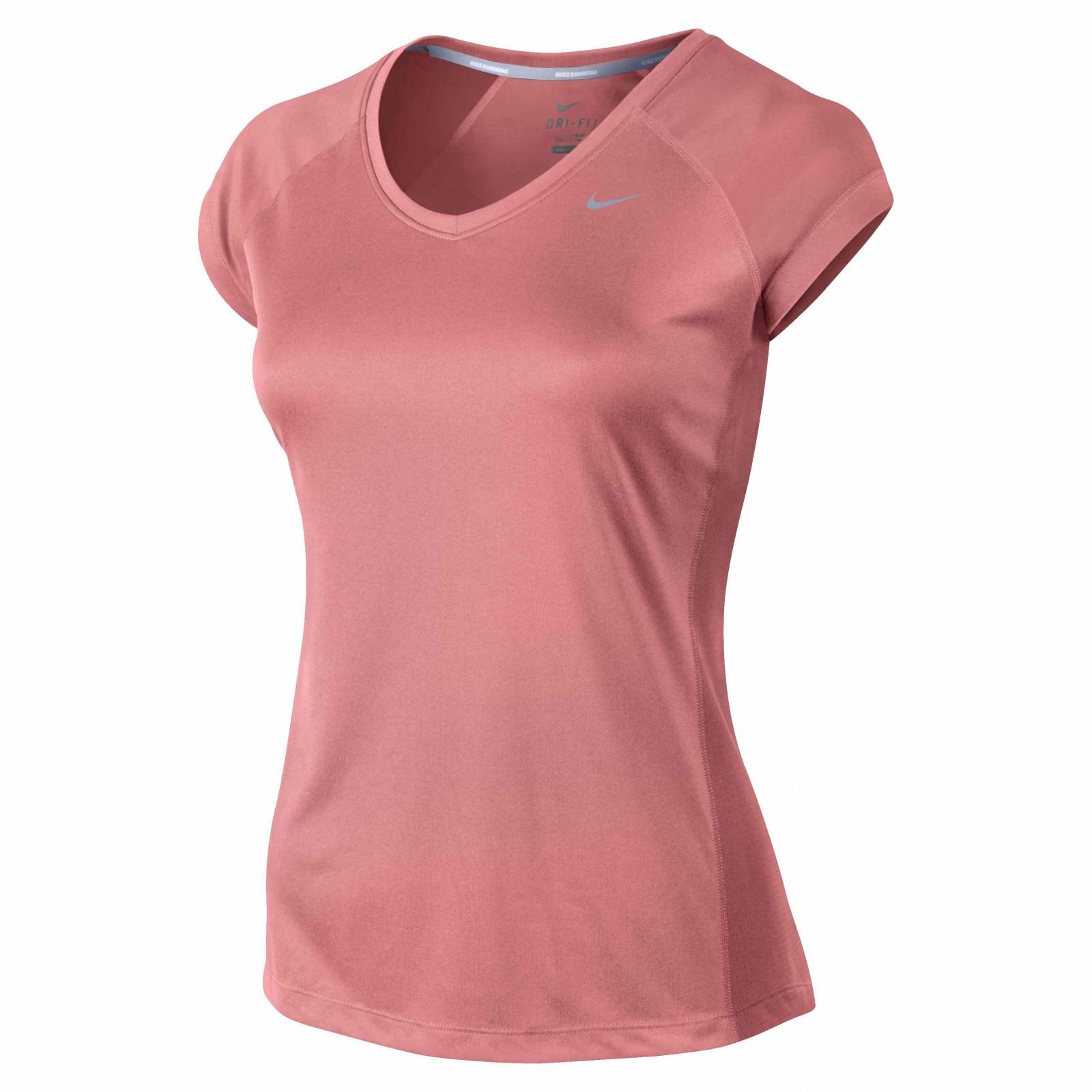 82f437f52670 Dámské tričko Nike MILER SS V-NECK TOP