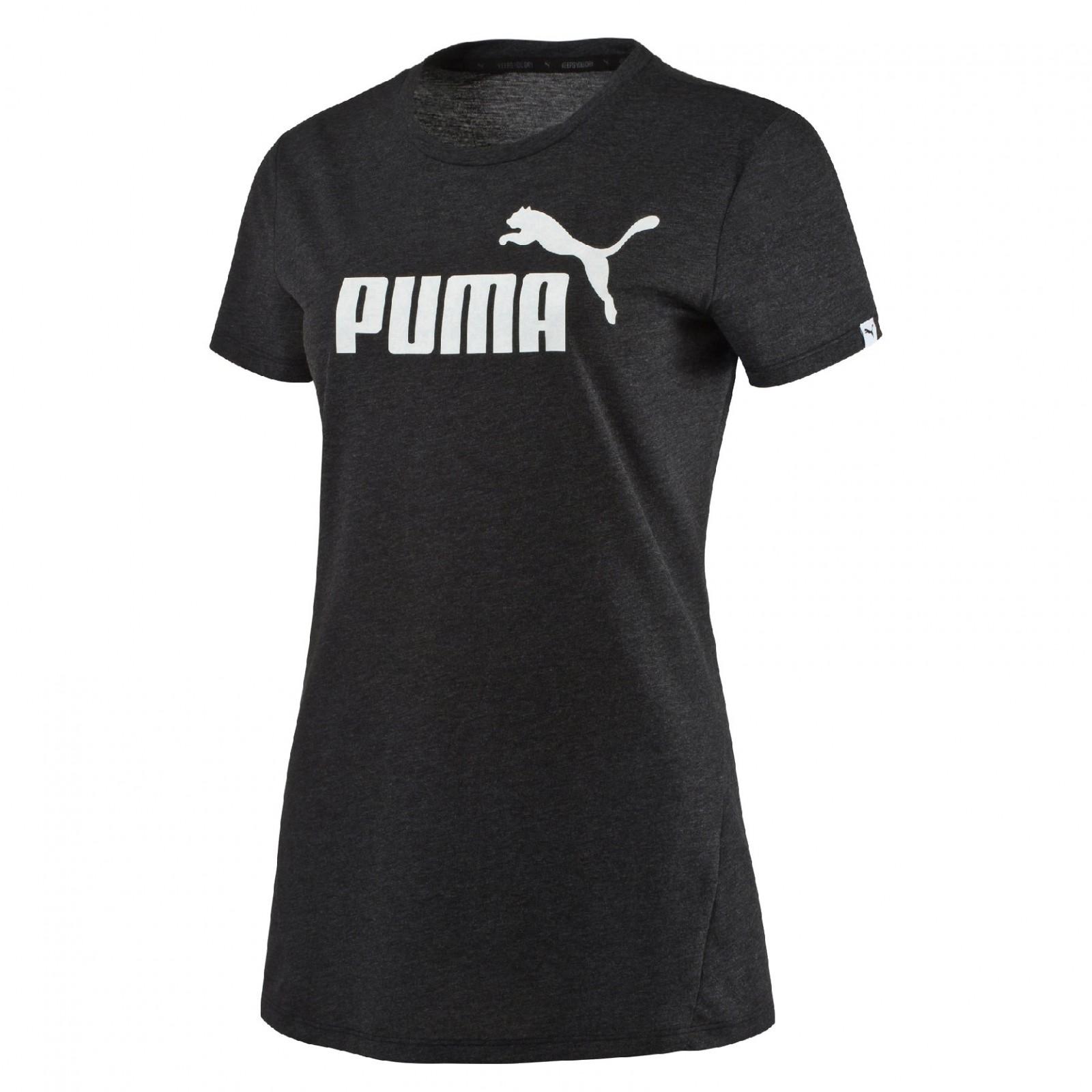 8650650cc386 Dámské tričko Puma ESS No.1 Tee Heather W Dark Gr