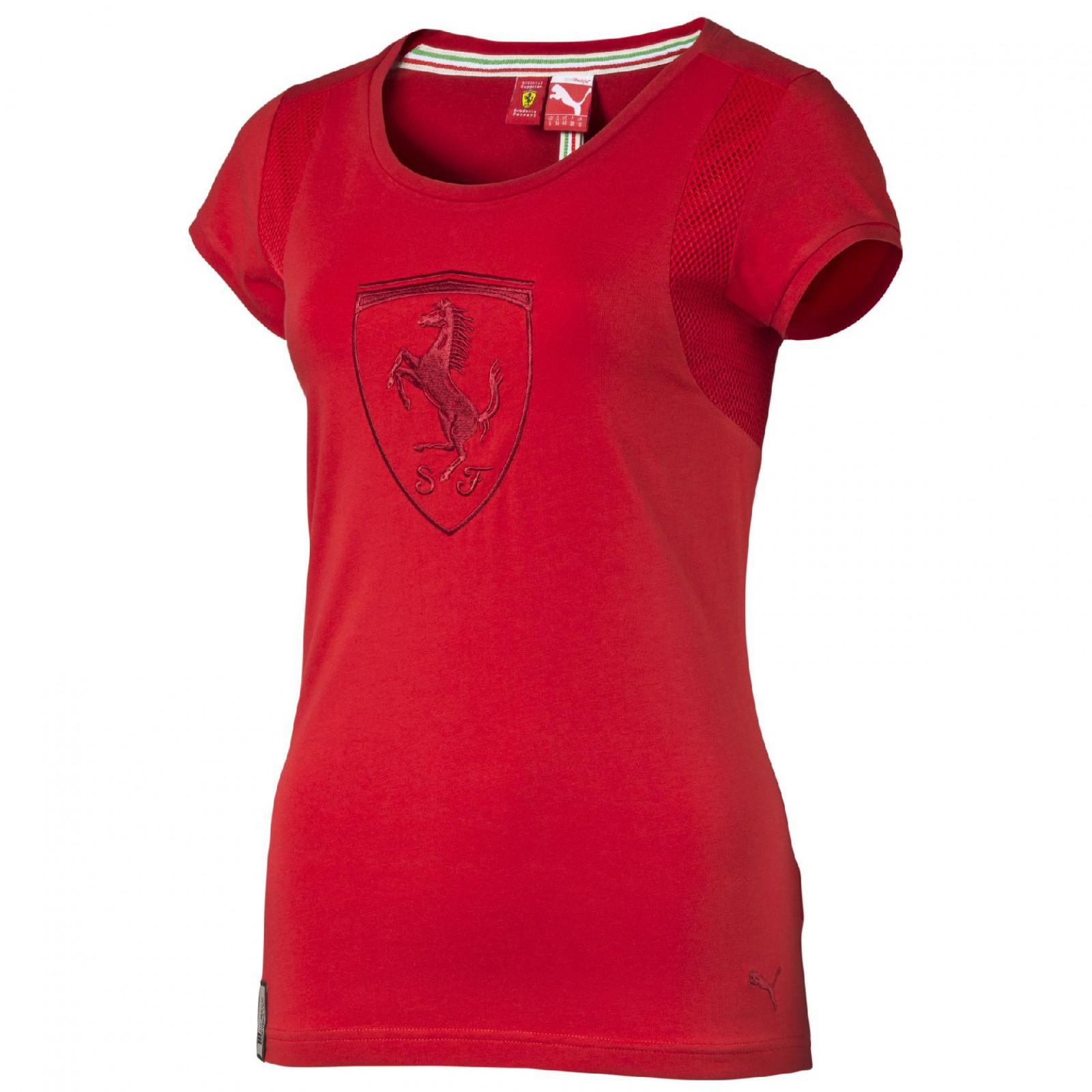 f086b092c37 Dámské tričko Puma Ferrari Ferrari Shield Tee rosso corsa