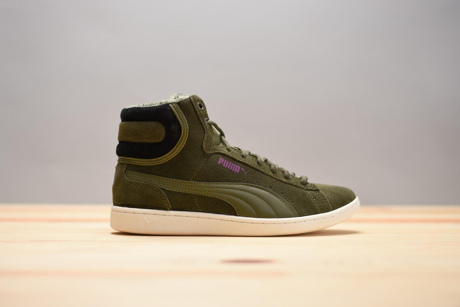 Dámské zimní boty Puma Vikky Mid Corduroy Olive  b78b8528dfe