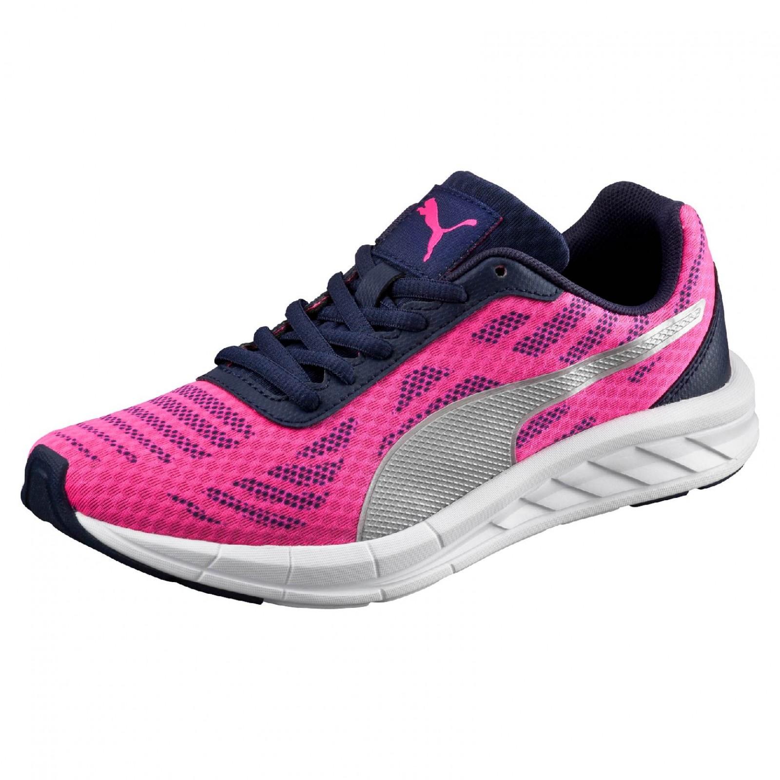 40884021145 Dětské běžecké boty Puma Meteor Jr Pink Glo- Silver