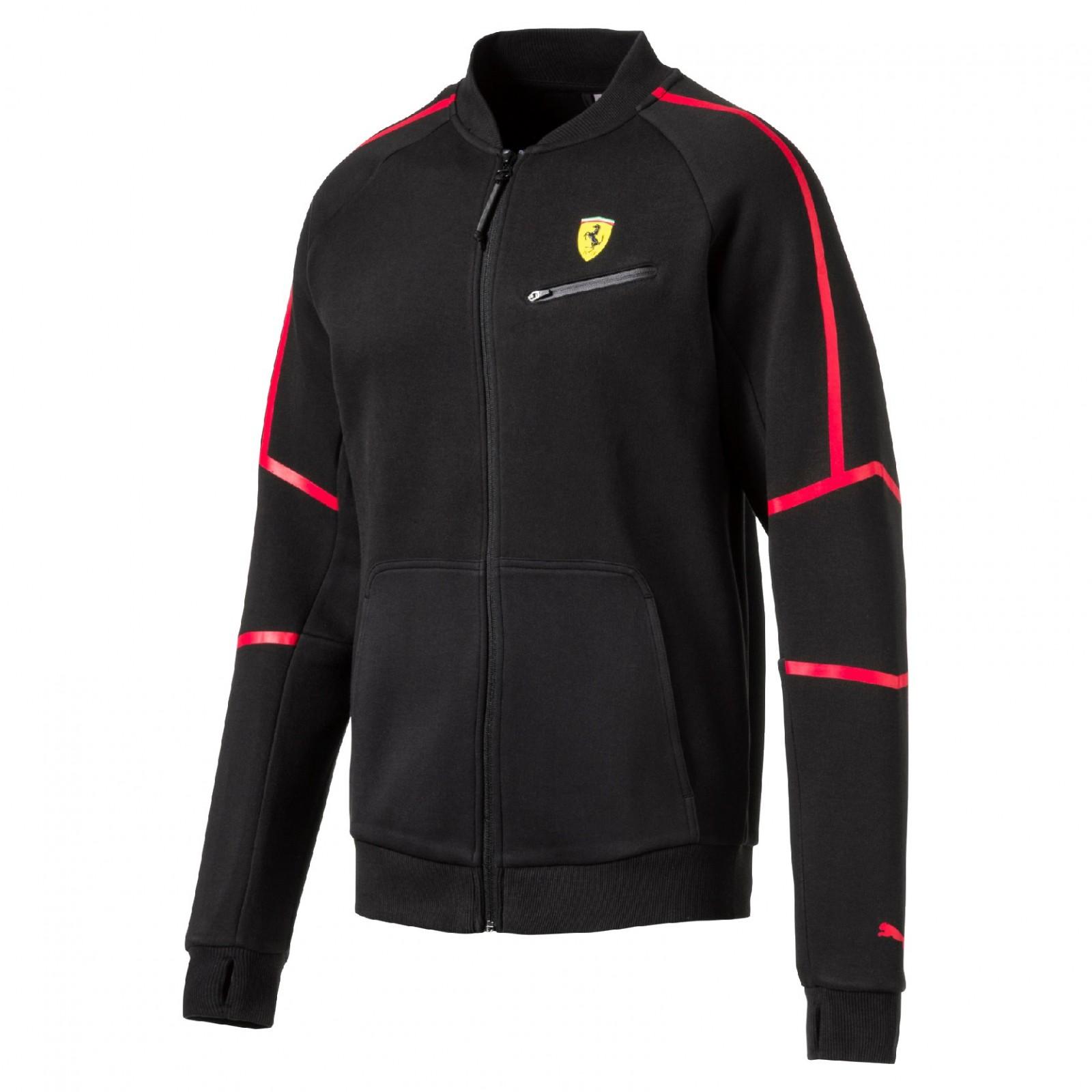 Pánská mikina Puma Ferrari SF Sweat Jacket Cotton Black  fdd825db95c