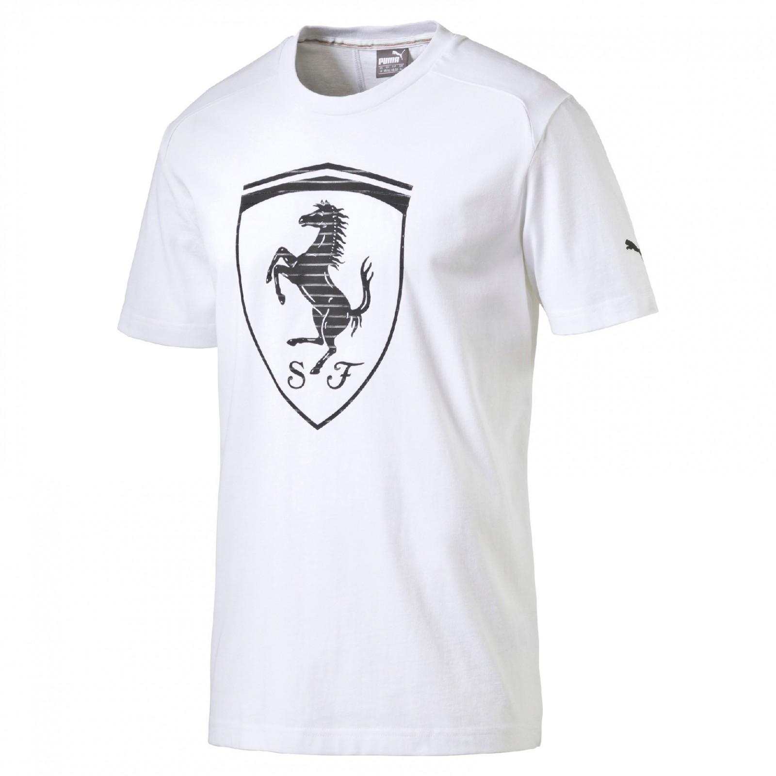 6b944c23ccb53 Pánské tričko Puma Ferrari Ferrari Big Shield Tee white | D-Sport