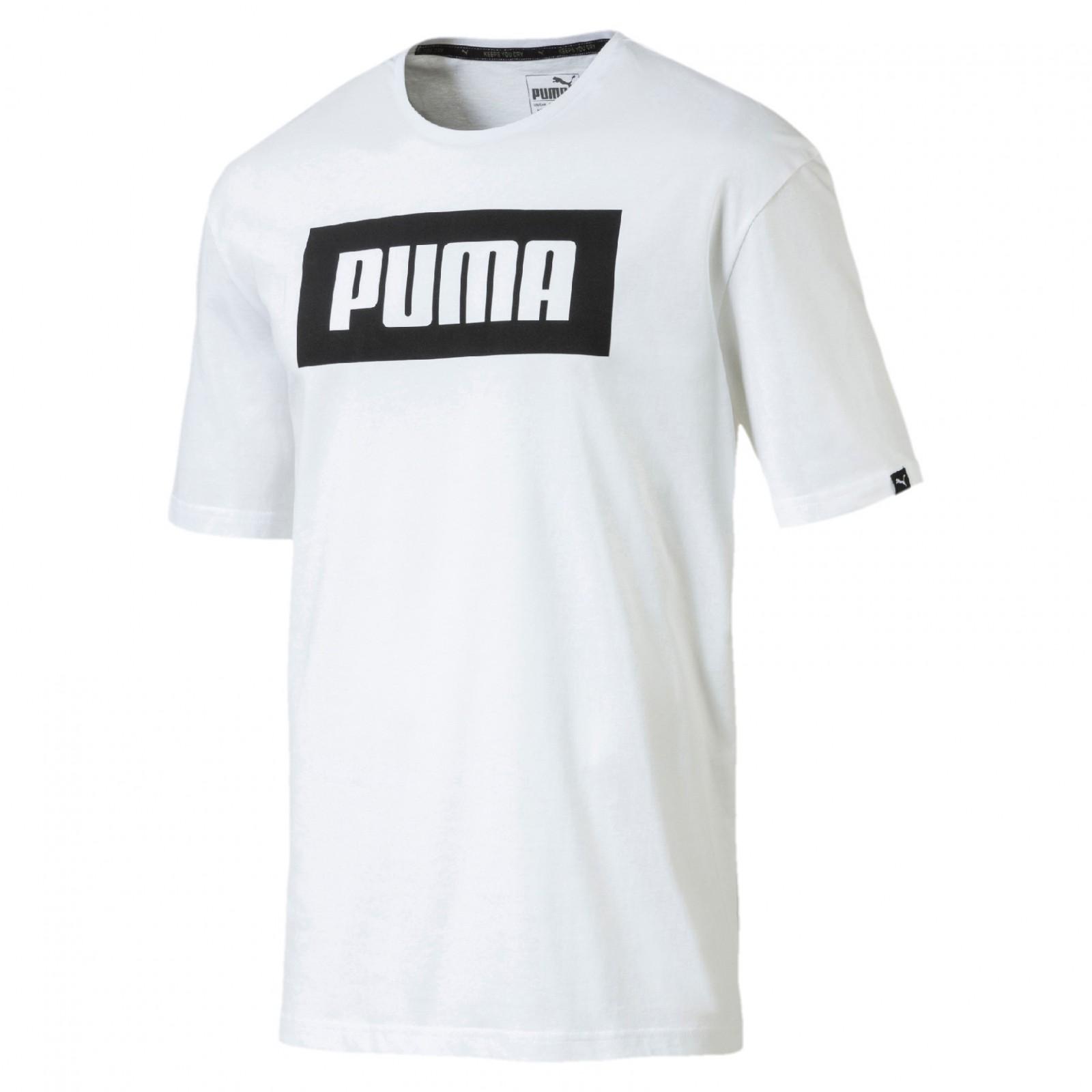 02ff2969d72 Pánské Tričko Puma Rebel Basic Tee White