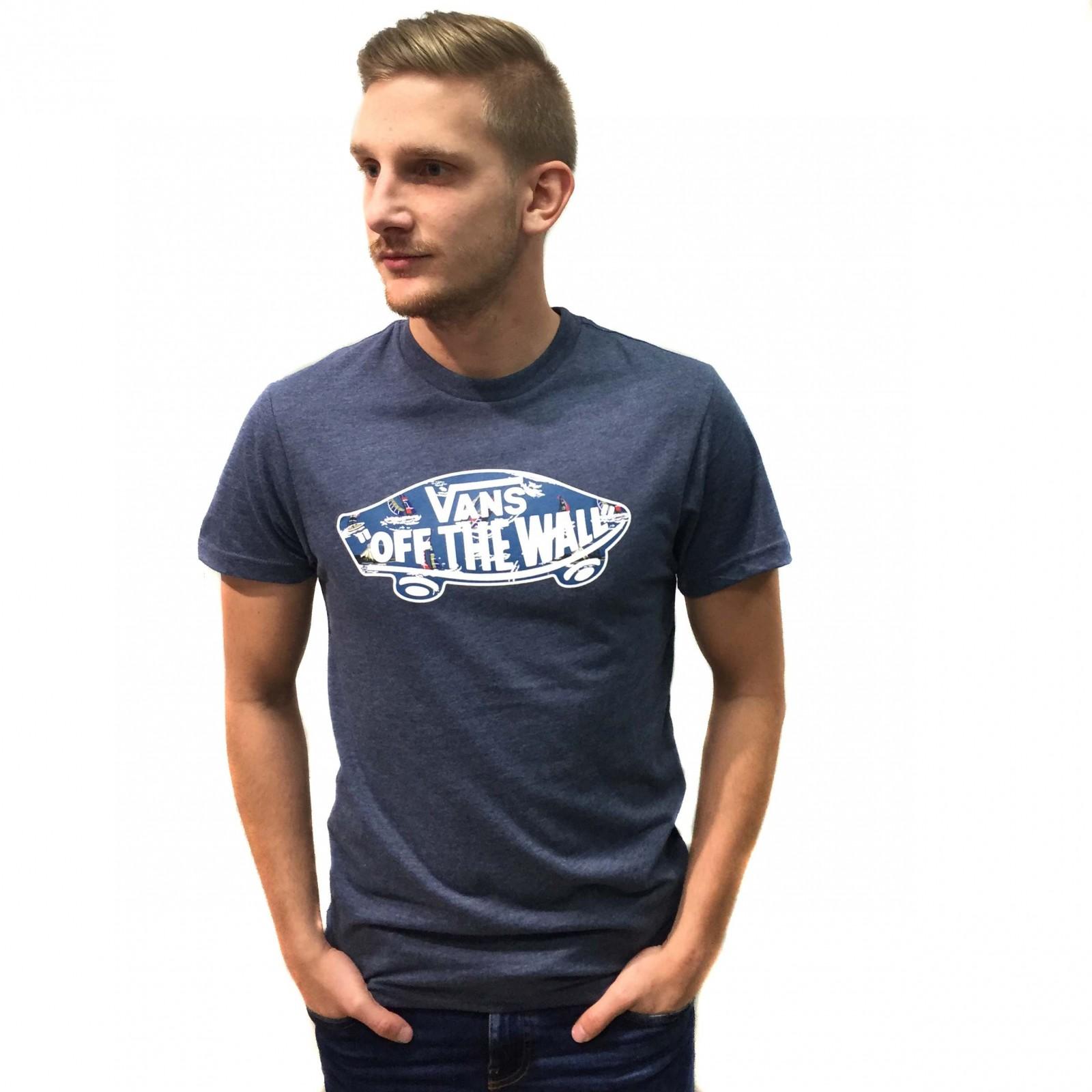 f9431d8ab Pánské tričko Vans M OTW LOGO FILL NAVY HEATHER/F | D-Sport