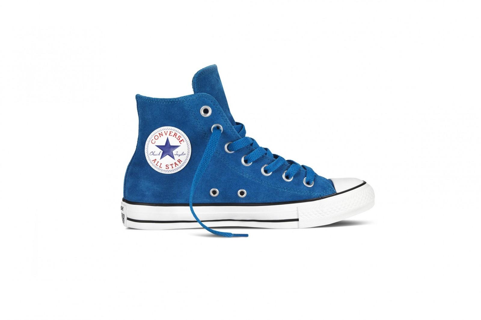 Unisex boty Converse Chuck Taylor All Star semiš modrá  aadaad961b0