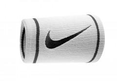 Bílá potítka Nike DRI-FIT DOUBLEWIDE WRISTBANDS NS