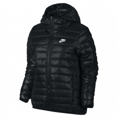 Dámská bunda Nike W NSW DWN FLL JKT HD XL BLACK/BLACK/WHITE