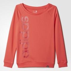 Dámská mikina adidas CLEAR LINEAGE | AI6153 | Oranžová | XS