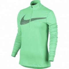 Dámská mikina Nike W NK DRY ELMNT TOP HZ GX | 844623-387 | Zelená | L