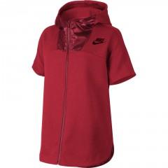 Dámská mikina Nike W NSW AV15 HOODIE FLC | 804020-657 | Červená | L