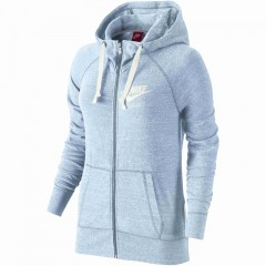 Dámská mikina Nike W NSW GYM VNTG HOODIE FZ | 726057-411 | Modrá | XL