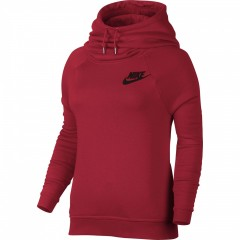 Dámská mikina Nike W NSW RALLY HOODIE L UNIVERSITY RED/UNIVERSITY RED/