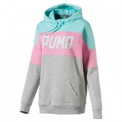 Dámská mikina Puma ATHLETIC Hoody W ARUBA BLUE | 590754-23 | Šedá, Barevná | L
