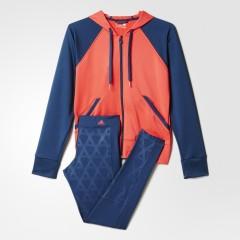 Dámská souprava adidas TIGHTHOODY SUIT | AJ5961 | Modrá, Oranžová | L