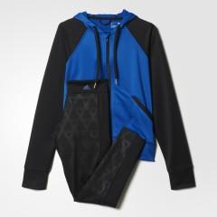 Dámská souprava adidas TIGHTHOODY SUIT | AJ5960 | Černá, Modrá | XL