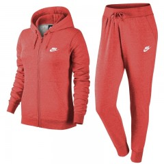 Dámská souprava Nike W NSW TRK SUIT FLC L EMBER GLOW/DK GREY HEATHER/WHI