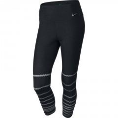 Dámské legíny Nike LEGEND TI CAPRI BURNOUT M BLACK/COOL GREY/COOL GREY