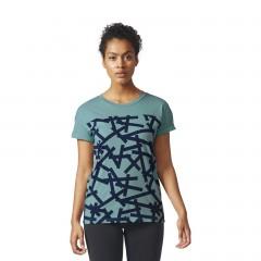 Dámské trička adidas Performance AOP TEE | BR2536 | Zelená | L