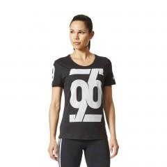Dámské trička adidas Performance NUMBER | CD1936 | Černá | L