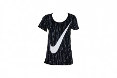Dámské Trička Nike TEE-ART AOP SCOOP | 804177-010 | Černá | M