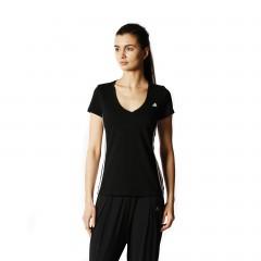 Dámské tričko adidas ESS MID 3STEE L BLACK/WHITE