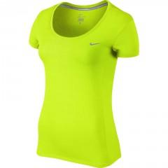 Dámské tričko Nike DRI-FIT CONTOUR SS L VOLT