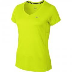 Dámské tričko Nike MILER V-NECK   686917-702   Žlutá   L