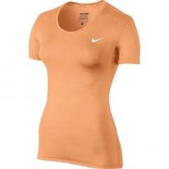 Dámské Trička Nike NP CL SHORT SLEEVE L PEACH CREAM/WHITE