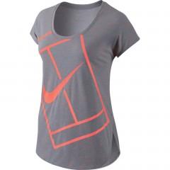 Dámské tričko Nike PRACTICE TOP WB S STEALTH/BRIGHT MANGO