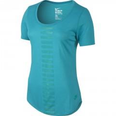 Dámské tričko Nike TEE -SCOOP FREQ BURNOUT | 779238-418 | Modrá | L