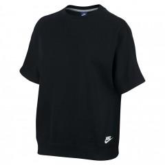 Dámské Trička Nike W NSW TOP SS FT M BLACK/BLACK/WHITE