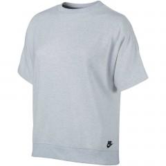 Dámské Trička Nike W NSW TOP SS FT L BIRCH HEATHER/WHITE/BLACK