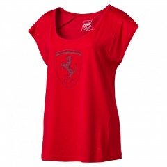 Dámské tričko Puma Ferrari Ferrari Big Shield Tee Rosso C | 573517-02 | Červená | L