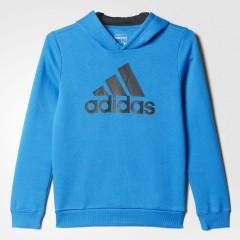 Dětská mikina adidas YB ESS LOGO HD | AK2000 | Modrá | 140