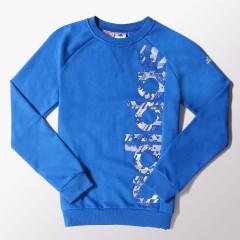 Dětská mikina adidas YB RD KN CREW | S22624 | Modrá | 128