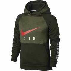 Dětská mikina Nike B NK AIR HOODIE PO BF | 832550-355 | Zelená | XS