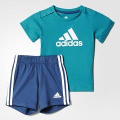 Dětská souprava adidas I SU EASY B SET 74 EQTGRN/WHITE