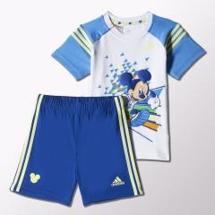 Dětská souprava adidas TO DY MIC S SET 92 WHITE/LUCBLU/LTFLYE