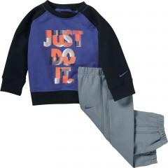 Dětská souprava Nike LS BF GFX CREW WARM UP INF | 618193-480 | Modrá | 24-36