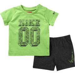 Dětská souprava Nike SS TOP + SHORT GFX #1 INF | 728583-313 | Zelená | 9-12