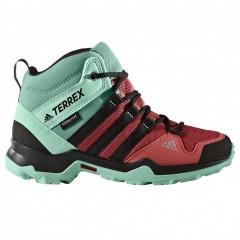 Dětská treková obuv adidas TERREX AX2R MID CP K | BB1939 | Růžová, Zelená | 36,5