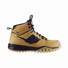 Dětská treková obuv Nike DUAL FUSION HILLS MID (GS) 37,5 HAYSTACK/BLACK-GUM YELLOW