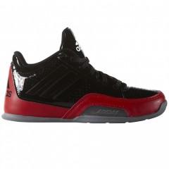 Dětské basketbalové boty adidas Performance 3 Series 2015 NBA K 37 CBLACK/GREY/SCARLE